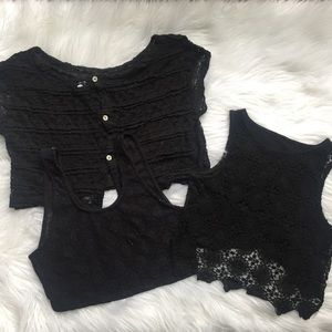 Black Lace Top Bundle🖤